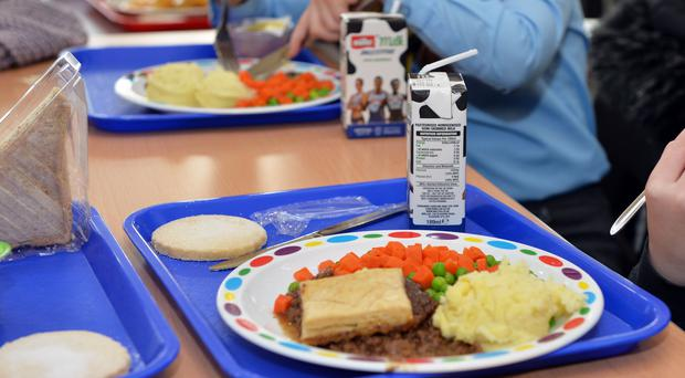 Children eating school meals in North Lanarkshire (Jacqui Bradley/PA)