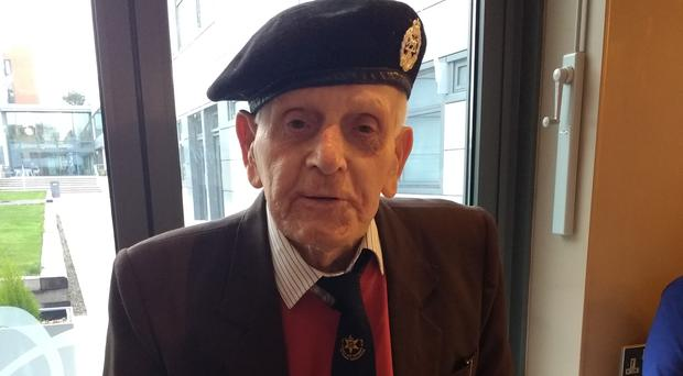 John Baker, who is appealing for the return of his lost Legion d'Honneur medal (Blind Veterans UK/PA)