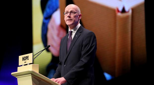 Water at the schools has been assessed as safe, John Swinney said (Jane Barlow/PA)