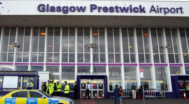 Prestwick Airport has been put up for sale by the Scottish Government (David Cheskin/PA)