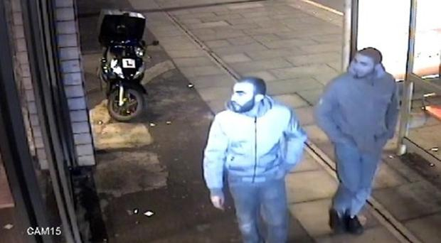 Youssef Zaghba, right, seen on CCTV with Rachid Redouane (Metropolitan Police/PA)
