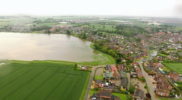 Flooding in Wainfleet All Saints in Lincolnshire (Chris Dower/PA)