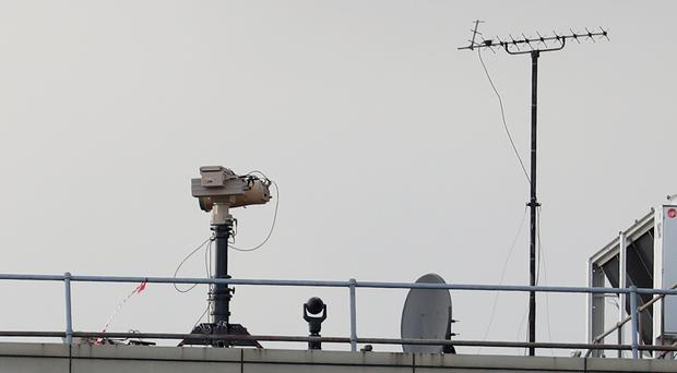 Counter drone equipment deployed on a rooftop at Gatwick airport. Culprits behind the drone chaos at Gatwick had an insight into how the airport was reacting to the incident, its head of operations has said.