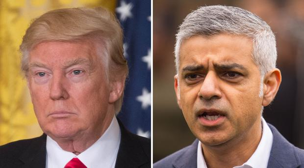 Donald Trump and Sadiq Khan's war of words dates back to 2015 (PA)
