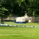 The forensic tent in Deeside Road, Wandsworth (Emma Bowden/PA)