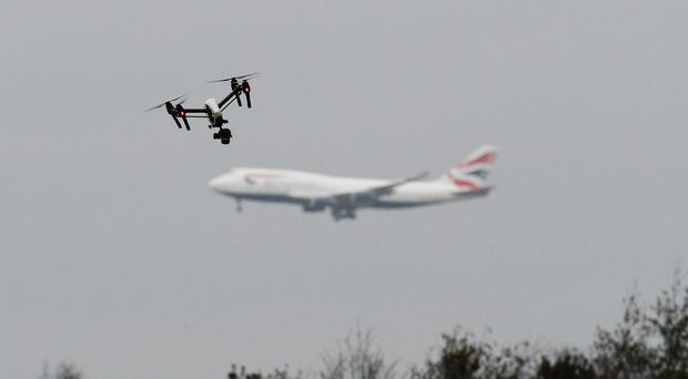 The climate group had suggested drones could be used during the demonstrations (John Stillwell/PA)