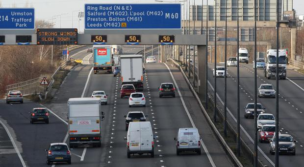 A baby was born on the hard shoulder of the M60 motorway near Manchester (Dave Thompson/PA)