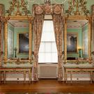 A pair of tables and mirrors by Thomas Chippendale (Charlotte Graham for Harewood House Trust)