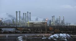 The heavy water nuclear facility near Arak in Iran (Hamid Foroutan/ISNA/AP)
