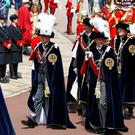 The Princess Royal, the Duke of York, the Earl of Wessex, Spain's King Felipe and Dutch King Willem-Alexander during the annual Order of the Garter Service in Windsor (Peter Nicholls/PA)