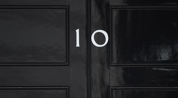 The door of 10 Downing Street (Hannah McKay/PA)