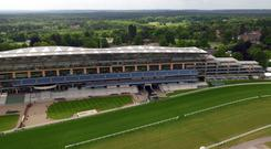 An aerial view of Ascot Racecourse in Berkshire (Steve Parsons/PA)