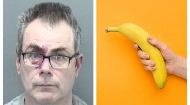 Laurence James Vonderdell, 50, from Christchurch Road, Bournemouth, threatened a cashier with a banana concealed in a plastic bag (Handout/PA)