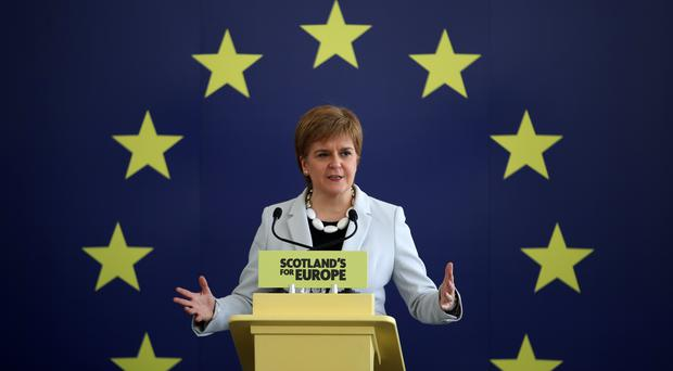 First Minister Nicola Sturgeon says Scotland 'must have the option of choosing a different course' in the face of a no-deal Brexit (Jane Barlow/PA)