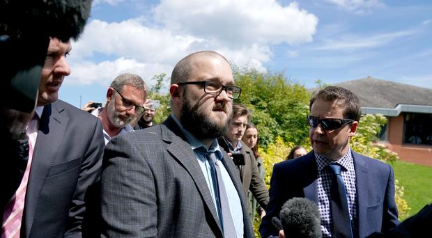 Paul Crowther threw the sticky drink over the Brexit Party leader in Newcastle (Owen Humphreys/PA)