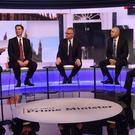 Boris Johnson, Jeremy Hunt, Michael Gove, Sajid Javid and Rory Stewart (left to right) during the BBC TV debate (Jeff Overs/BBC)
