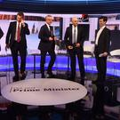 Boris Johnson, Jeremy Hunt, Michael Gove, Sajid Javid and Rory Stewart were asked about Islamophobia by an Imam (Jeff Overs/BBC/PA)