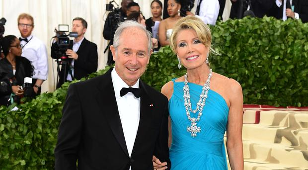 Christine and Stephen Schwarzman attending the Metropolitan Museum of Art Costume Institute Benefit Gala in New York (Ian West/PA)