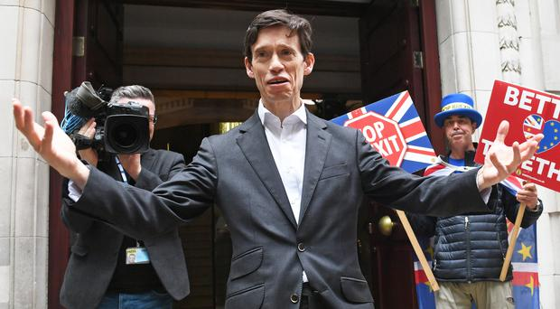 Conservative Party leadership contender Rory Stewart outside Millbank television studios in London (Stefan Rousseau/PA)