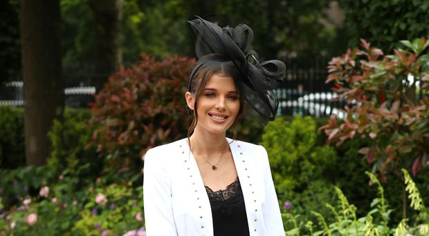 Helen Flanagan during day two of Royal Ascot at Ascot Racecourse (Jonathan Brady/PA)