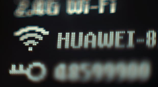 The electronic display on a Huawei mobile wifi device, in London.