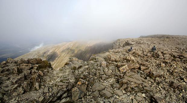 A view from the summit of Britain's tallest mountain, Ben Nevis (Yui Mok/PA)