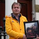 Richard Ratcliffe outside the Iranian Embassy in London (Jonathan Brady/PA)