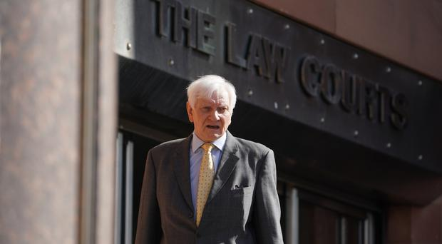 Former Tory MP Harvey Proctor arrives at Newcastle Crown Court (Owen Humphreys/PA)