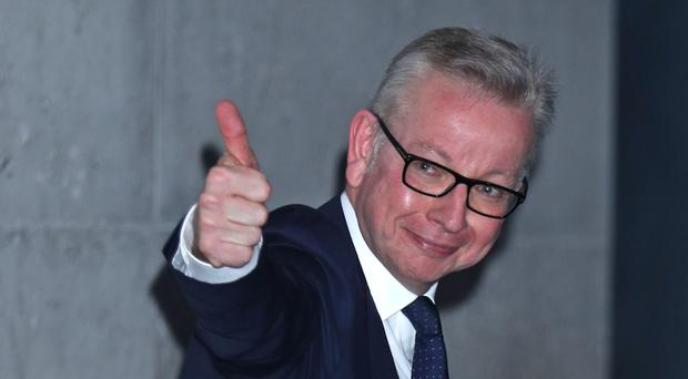 Conservative party leadership contender Michael Gove is now in second place in the leadership ballot (PA)