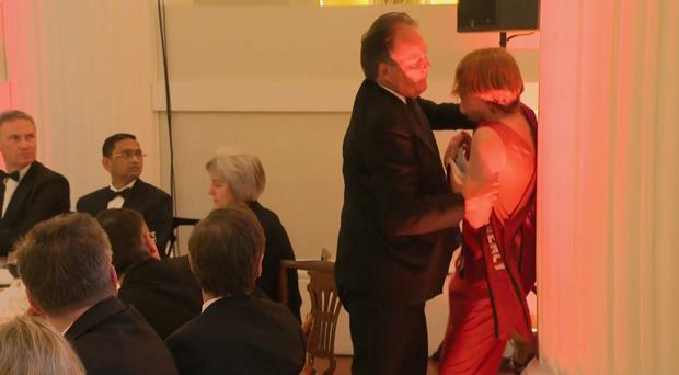 Mark Field was seen physically removing a climate change protester (UK pool/PA)