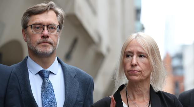 John Letts and Sally Lane outside the Old Bailey (Yui Mok/PA)