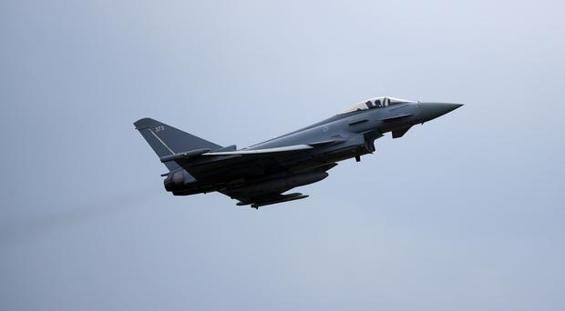 Two RAF Typhoons escorted the plane back to Stansted (PA)