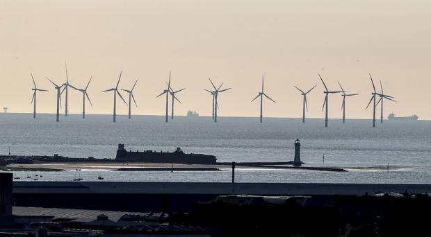 An offshore wind farm (Peter Byrne/PA)