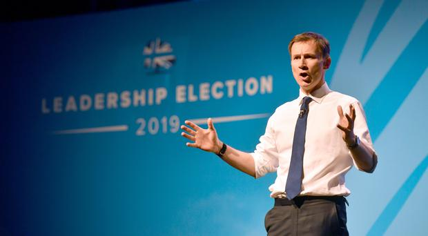 Conservative party leadership candidate Jeremy Hunt during the first party hustings (Ben Birchall/PA)