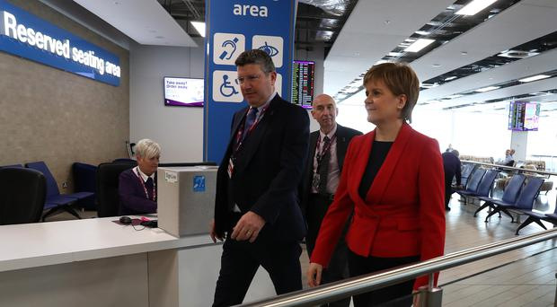 The Foreign Office is reported to have withdrawn support for Nicola Sturgeon's overseas trips (Andrew Milligan/PA)