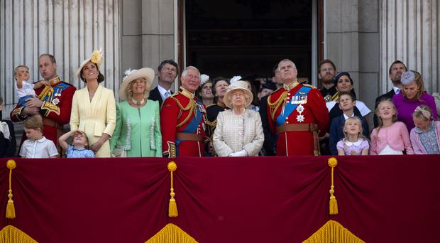 The royals during the Trooping the Colour celebrations (Victoria Jones/PA)