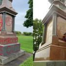The war memorial was vandalised (Mark Evans and Cyngor Abertawe/Swansea Council)