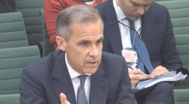 Mark Carney appearing before the Treasury Select Committee (House of Commons/PA)