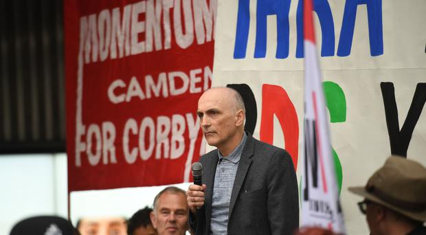 Chris Williamson MP outside at a meeting of the Labour National Executive Committee (PA)