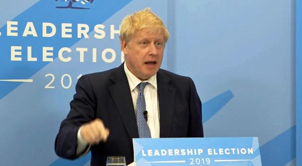 Boris Johnson speaking during a live digital hustings (Conservatives/PA)