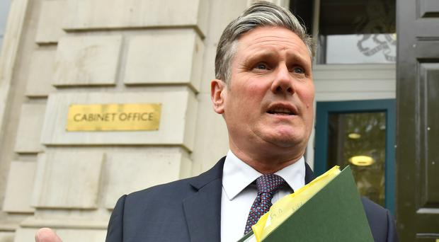 Shadow Brexit secretary Sir Keir Starmer has accused Boris Johnson of making misleading statements on the Brexit process (PA)