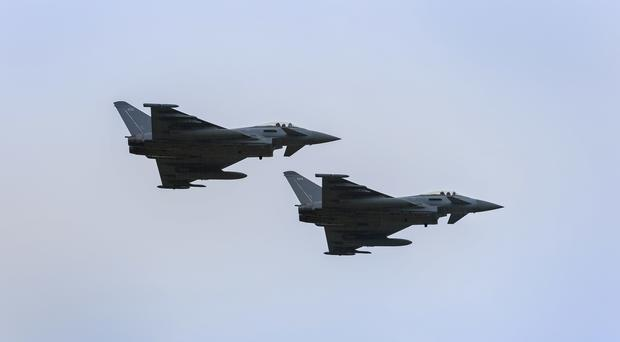 Typhoon jets from RAF Coningsby (SAC Charlotte Hopkins RAF/MoD/Crown Copyright/PA)