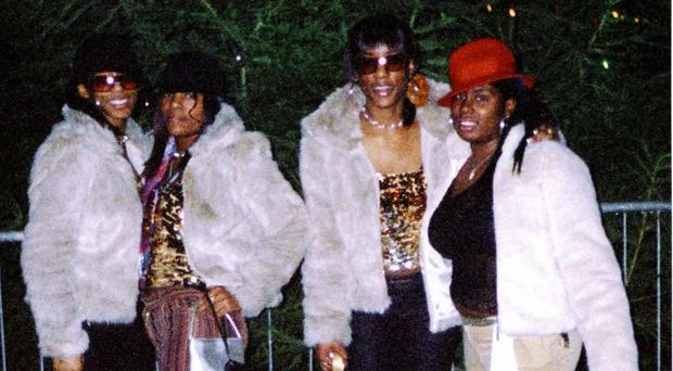 Cheryl Shaw, left to right, twins Charlene Ellis and Sophie Ellis, with Latisha Shakespeare (West Midlands Police/PA)