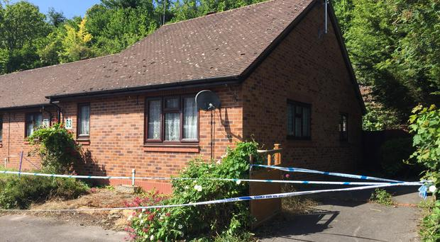 The home of Desmond Wooding, who was found dead on Monday (Richard Vernalls/PA)