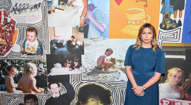 Brooke Kinsella at a mural dedicated to her brother Ben at Nottingham's National Justice Museum (Jacob King/PA)