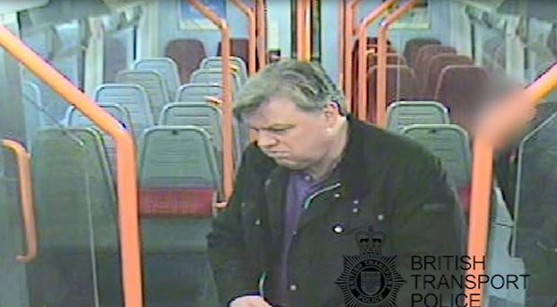 CCTV footage shows Lee Pomeroy, 51, boarding the London-bound train (BTP/PA)