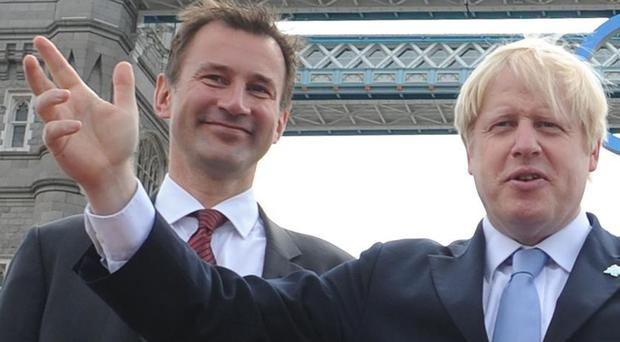 Jeremy Hunt and Boris Johnson are fighting for the Tory leadership (Stefan Rousseau/PA)