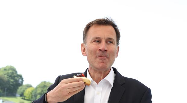 Mr Hunt was ahead with the public at large in the poll (PA/Andrew Matthews)