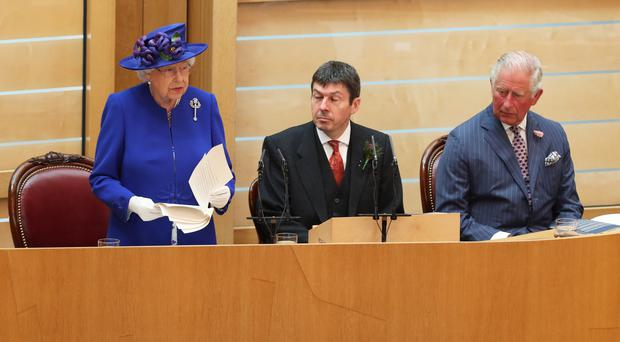 The Queen praised the 'remarkable' Scottish Parliament (Andrew Millligan/PA)