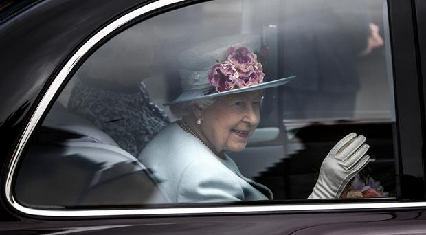 The Queen attended a Sunday church service at Canongate Kirk in Edinburgh (Jane Barlow/PA)